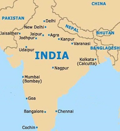 agra india map