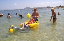 Disabled buggy in the sea at Puerto Pollensa